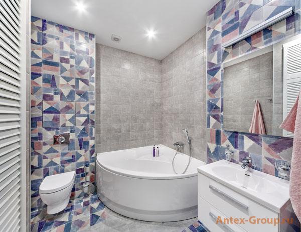 современный ремонт в ванной