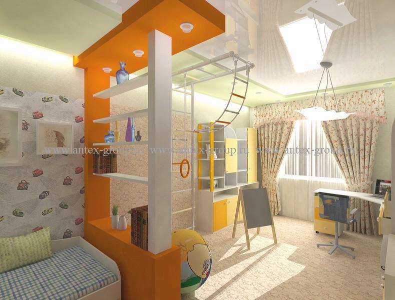 дизайн детской комнаты для мальчика или девочки