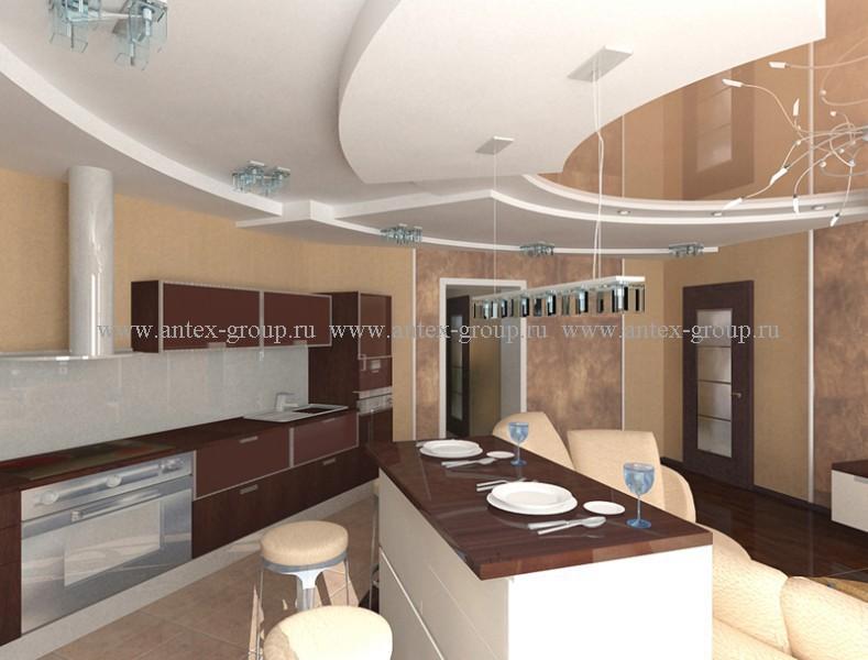 современный дизайн интерьера столовой